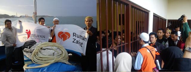 Rombongan Relawan Rumah Zakat Kunjungi Pengungsi Muslim Rohingya